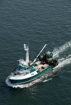North Pacific fishing boat sets out