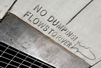river dumping notice