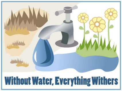 Environmental slogan 2 Without Water, Everything Withers