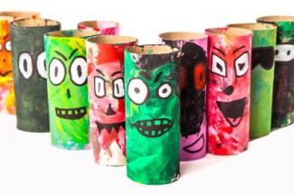 toilet roll kids craft monsters
