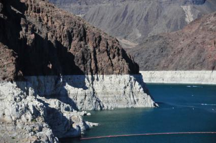 Drought marks on Lake Mead