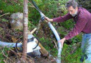 Hooking up a Stream Engine, a micro hydro machine by Energy Systems and Design