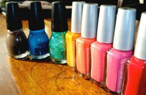 Nail polish may contain phthalates.