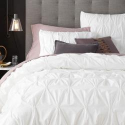 West Elm Organic Cotton Pintuck Duvet Cover and Shams