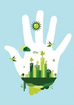 Green city hand