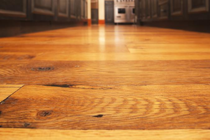 wood floor with a soft shine