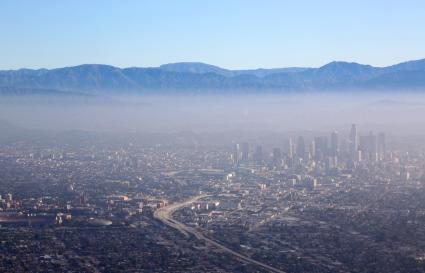 Air pollution over city