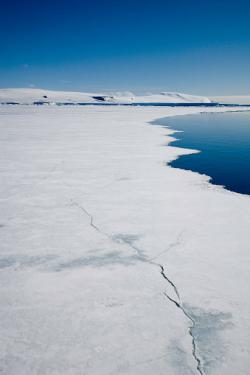 Antartica breaking pack ice