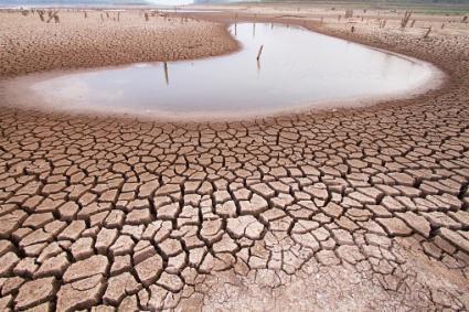 Climate change drought land