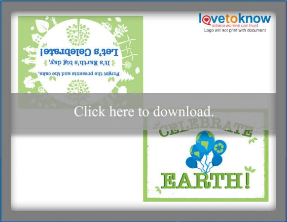 Celebrate Earth Printable Card