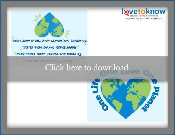 One Planet Printable Card