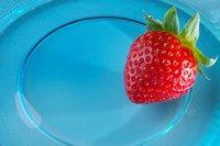 glass plate with strawberry