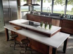Consentino recycled countertops in kitchen; Image used with permission from Cosentino