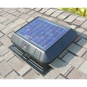 Solar Powered Flat Base Attic Fan