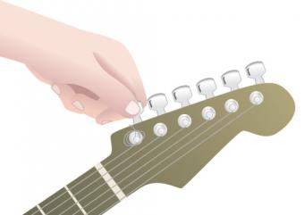 Restringing an electric guitar step 1