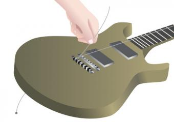 Restringing an electric guitar step 2