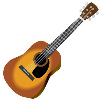 colored acoustic guitar clipart