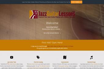 Screenshot of JazzGuitarLessons.net website