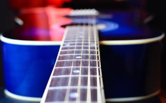 blue acoustic guitar