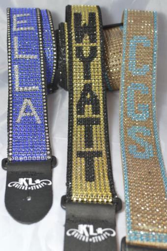 Personalized name straps from K'La Straps