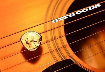 Quarter Guitar Pick