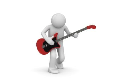 Digital figure playing guitar