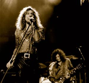 Robert Plant and Jimmy Page of Led Zeppelin