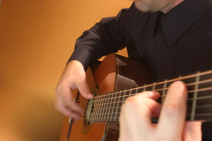 Classical guitar music is popular