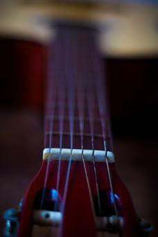 Classical mahogany guitar