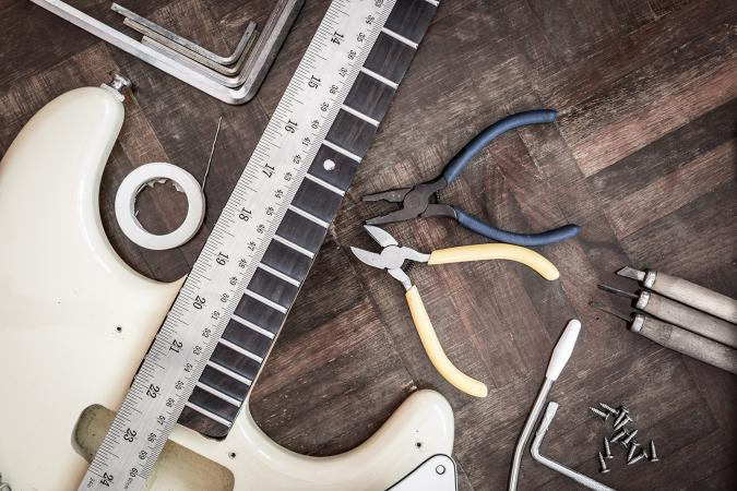 Guitar and tools