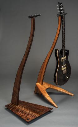 Wood guitar stands at Take a Stand