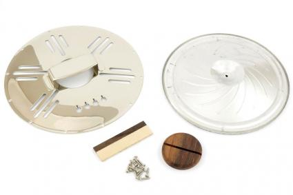 Cigar Box Guitar/Ukulele Resonator Cone Kit - Art Deco Chrome
