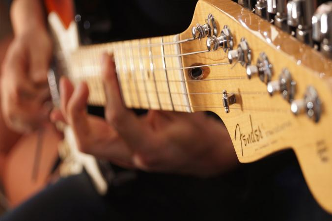 fender stratocaster guitar player