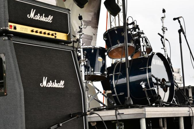 Marshall amplifiers on Garnic festival stage