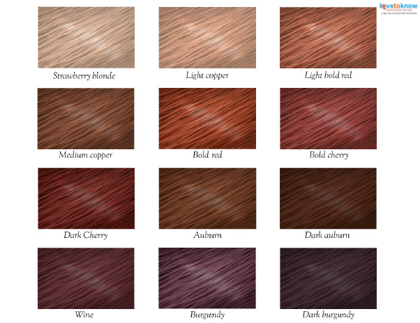 Red Hair Color Chart Lovetoknow