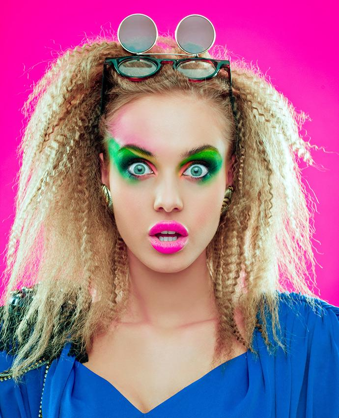 80s style hair and makeup crimped hair styles 2035