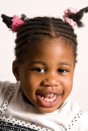 little girl with cornrows