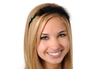 teen with headband