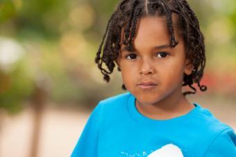 Cute kid with braids