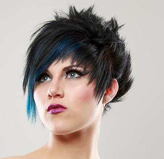 Blue chalk hair