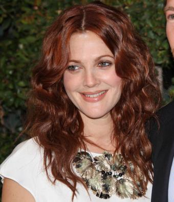 Drew Barrymore with long layered hair