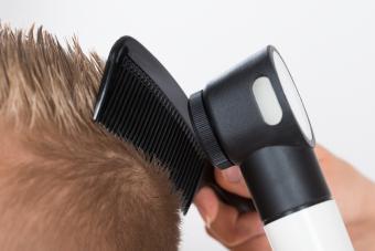 Doctor Examining Patient's Hair