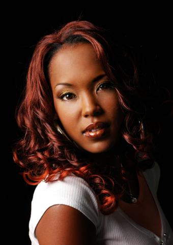 Red hair on African American woman