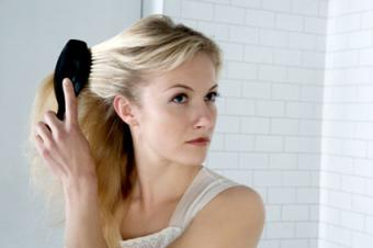 Massage scalp and brush hair