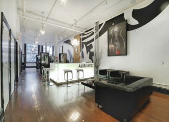 Interior of Alibi NYC Salon