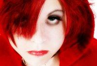 Image of woman with intensely red hair
