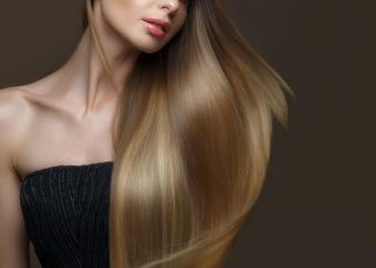girl with perfectly smooth hair