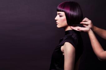 woman with Dark Violet hair