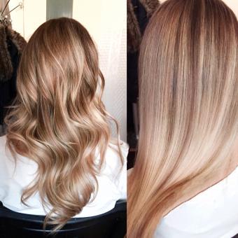 Balayage style hair color