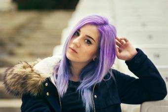 Violet to blue hair color